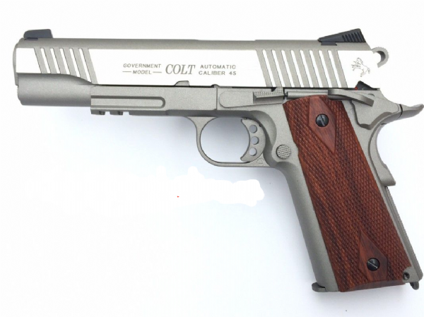 COLT RAIL GUN STAINLESS PISTOL   OUT OF STOCK